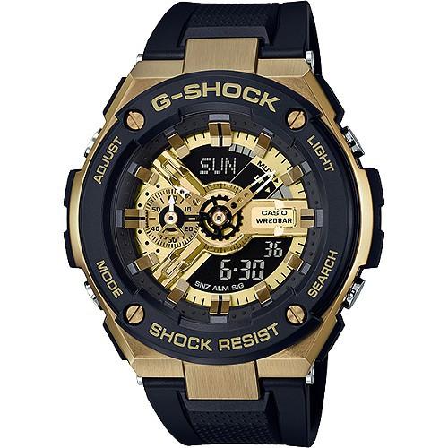 CASIO 卡西歐手錶 G-SHOCK GST-400G-1A9強化防震設計款雙顯錶-黑X金  廠商直送