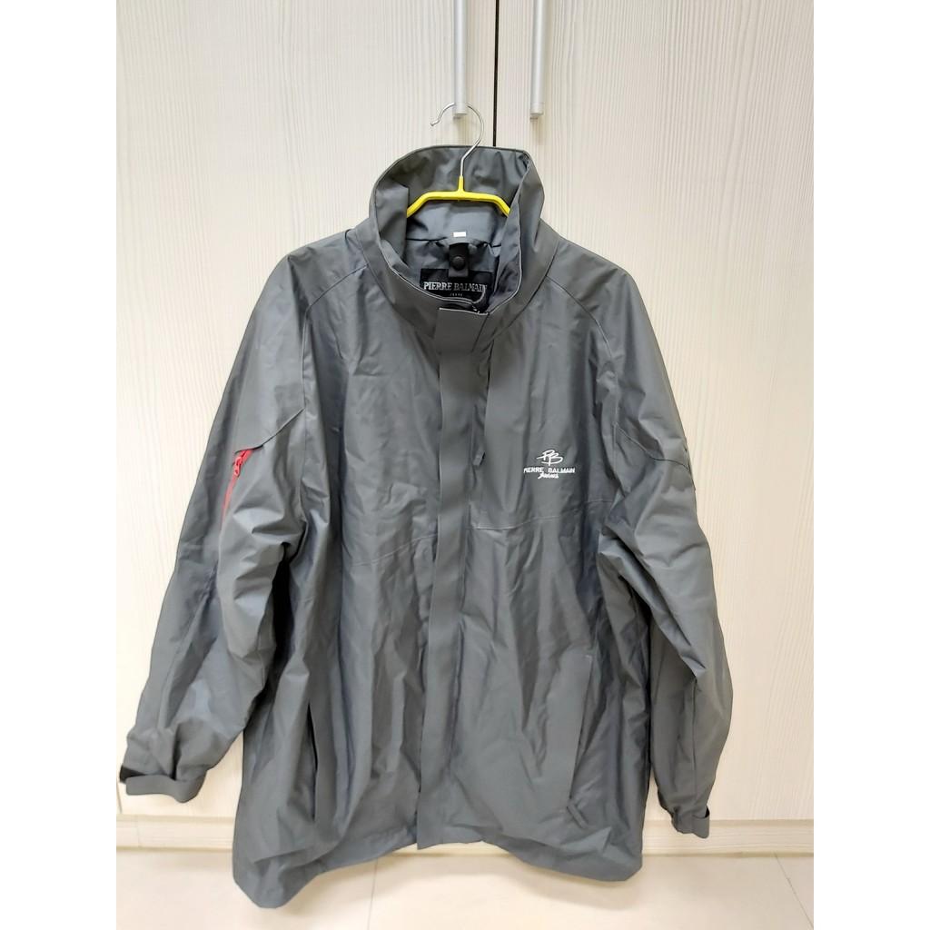 法國品牌Pierre balmain皮爾帕門-防風多口袋男性XL外套-灰色~全新無吊牌