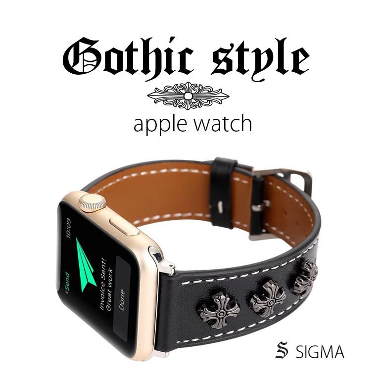 apple watch錶帶 6代 SE 5代 4代 復刻克羅心 銀飾 真皮錶帶 適用1 2 3代