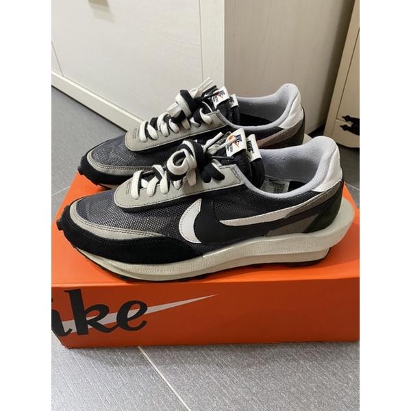 Nike x Sacai LDWaffle 黑灰 Us10.5 二手Yeezy Vaporwaffle nmd