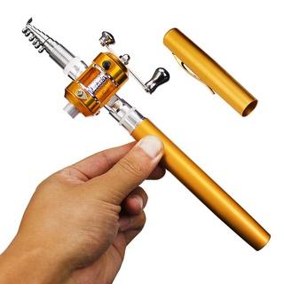 短節迷你全金鋼筆竿小鼓輪漁竿魚輪套裝初級1/ 1.4/ 1.6米鼓輪垂釣 碳素魚竿 台釣釣竿 溪流竿