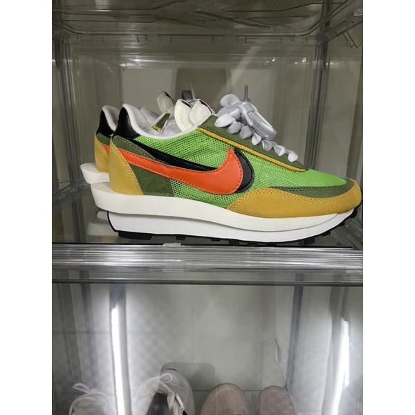 Nike Sacai 黃綠、US4 女鞋 (二手)