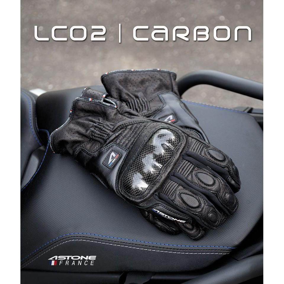 【免運】ASTONE LC02 真皮/碳纖/觸控/防摔手套
