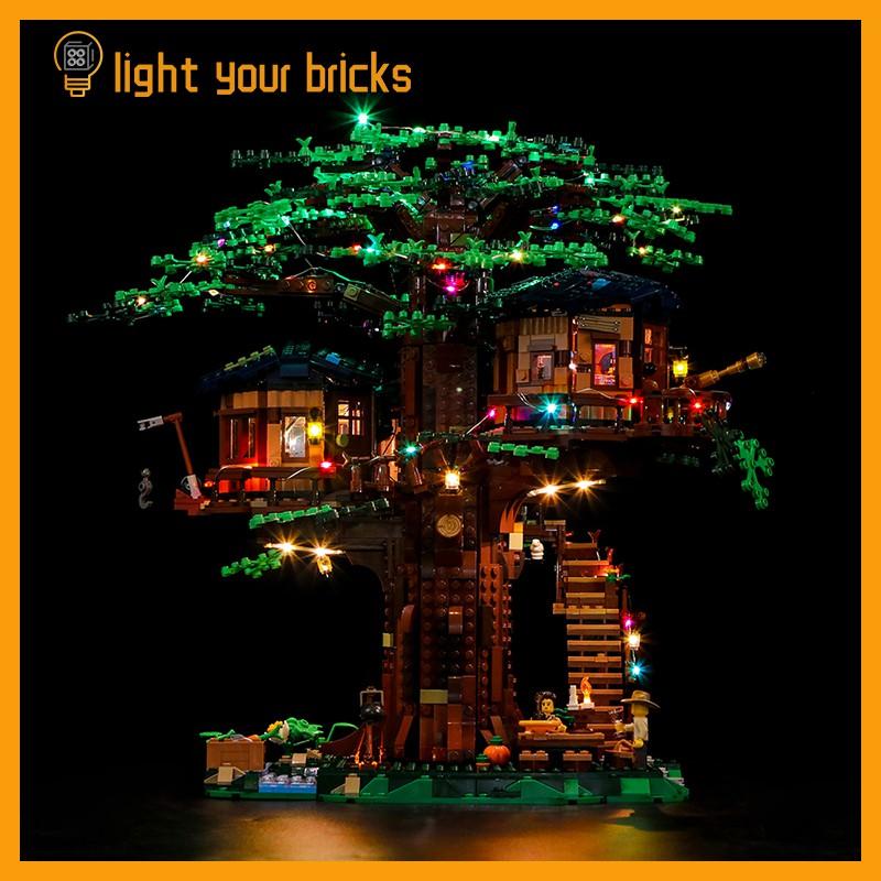#LEGO改裝燈#Light your bricks適用樂高ideas21318樹屋led燈飾套裝燈光組燈具