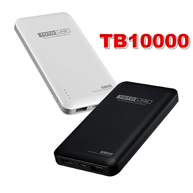 TOTOLINK TB10000 超薄 快充 10000mAh 行動電源【高密度鋰聚合物】【輕薄帶電】