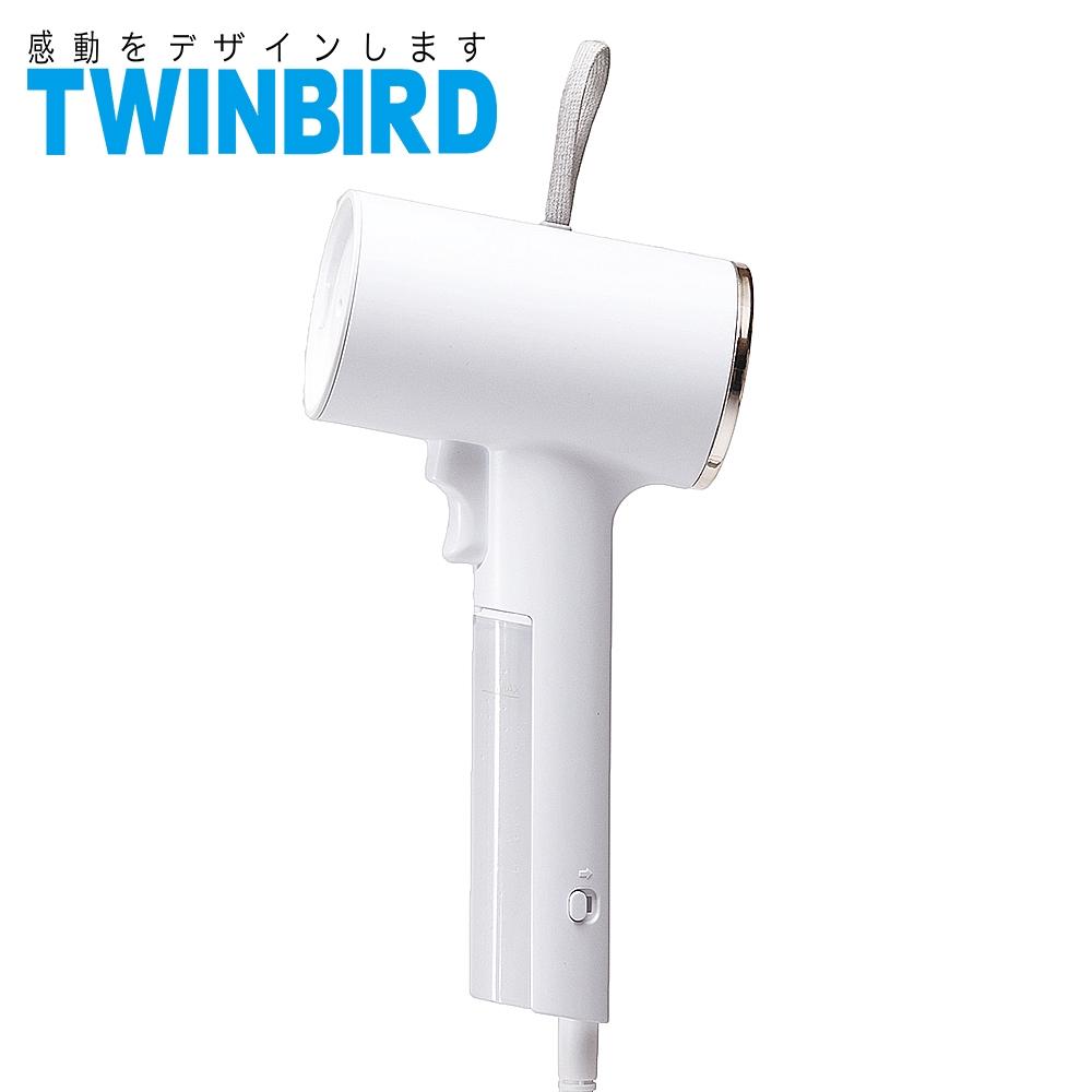 日本TWINBIRD 高溫抗菌除臭 美型蒸氣掛燙機(白) TB-G006TW