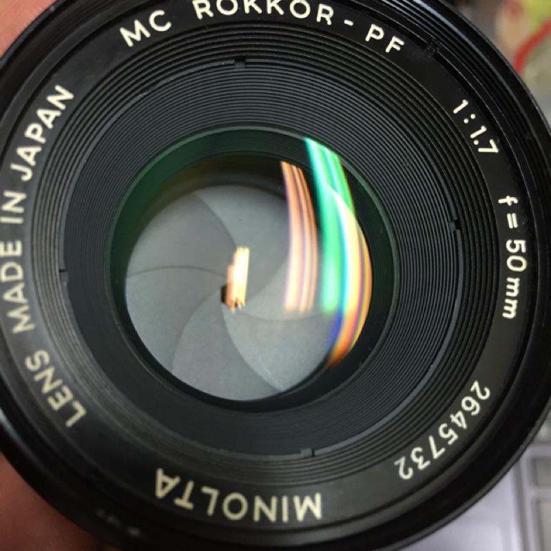 手動 鏡頭 Minolta 50mm f1.7 mc md 美品