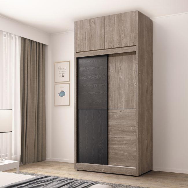【HB22-05】波爾多4尺高衣櫥(含上櫃)