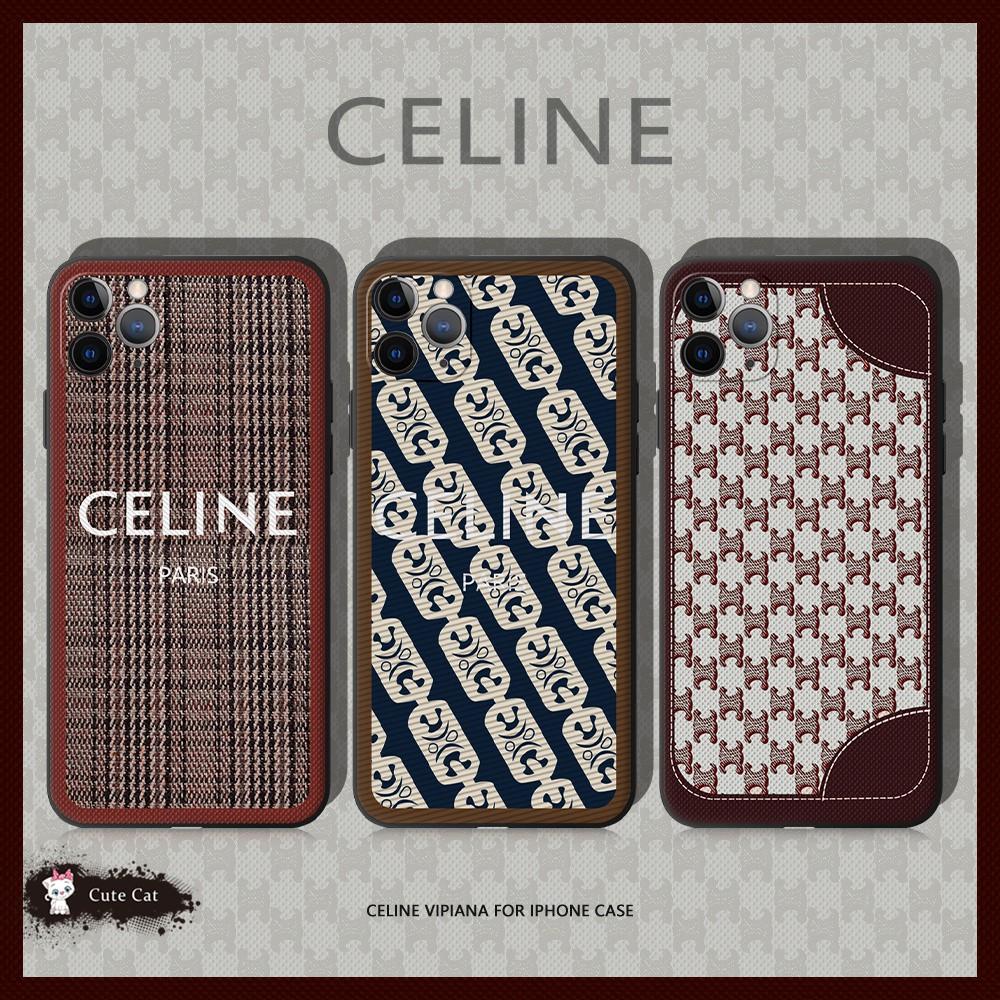 復古老花CELINE適用iPhone11手機殼xsmax防摔軟套12精品情侶潮牌8plus蘋果xr賽琳xsmax全包7