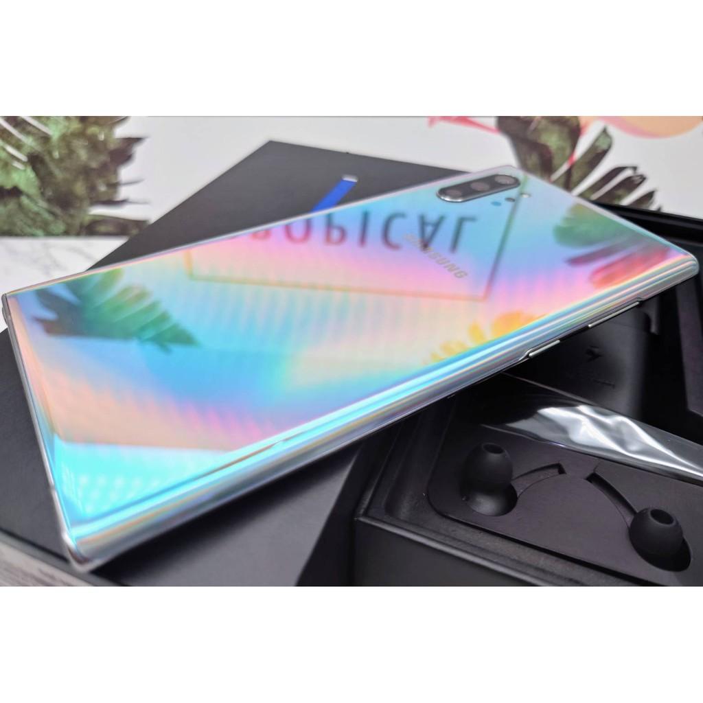 蝦皮二手機最優惠 SAMSUNG Galaxy NOTE10+ Plus 256G 銀色 SM-N9750 盒裝配件完整
