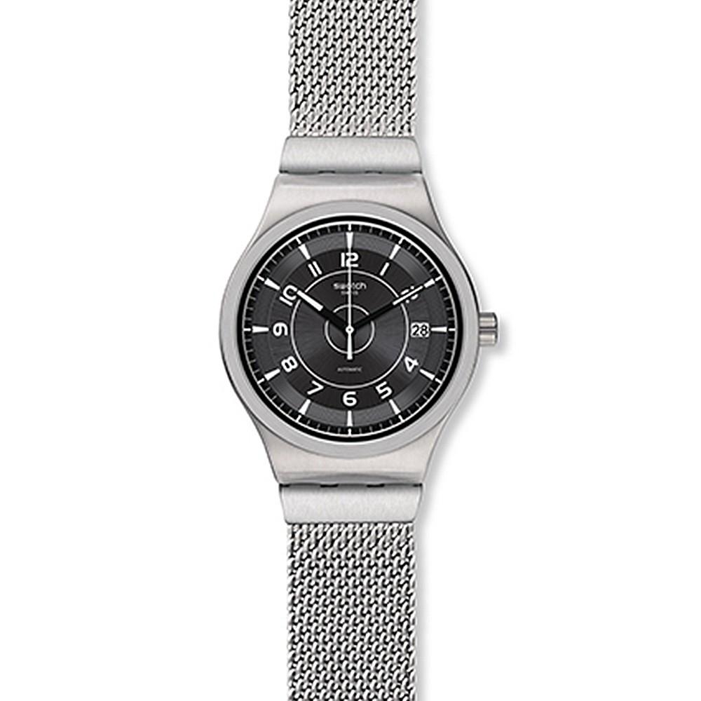【SWATCH】金屬 Sistem51機械錶 SISTEM MECHE S 銀灰米蘭-42mm YIS418MB