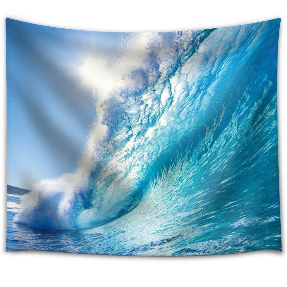 藍天 海浪 家居印花掛毯 沙灘巾 沙灘坐毯 掛布 掛毯 壁毯 沙發罩 桌布瑜伽