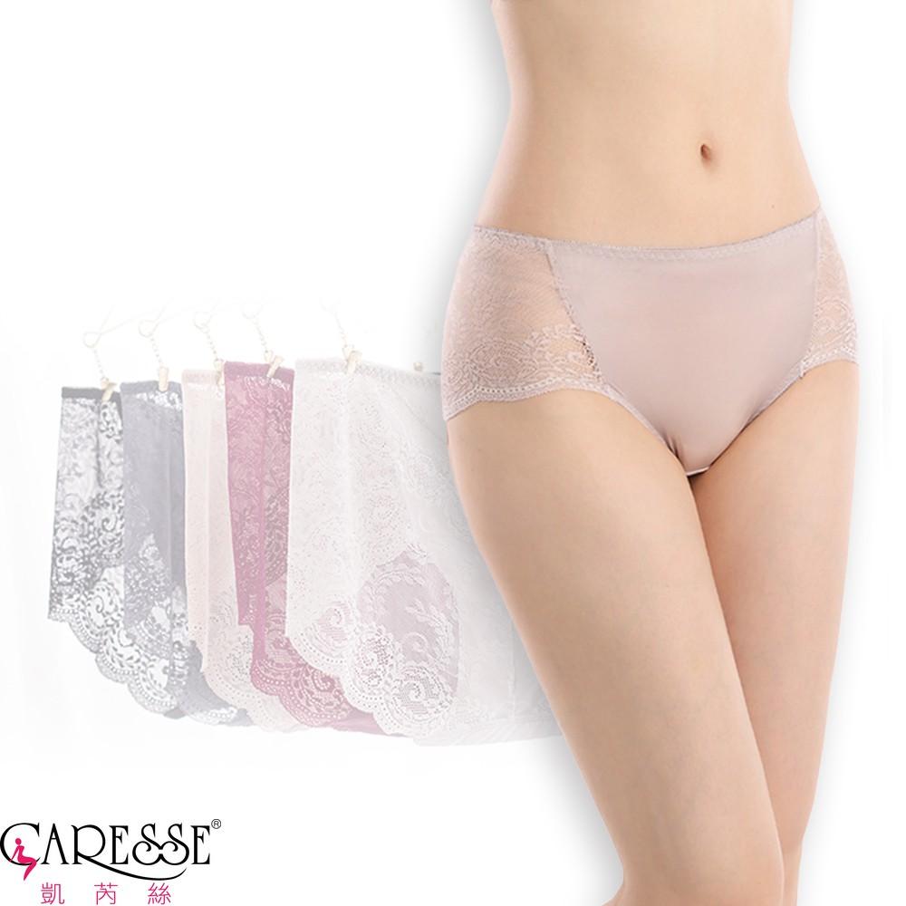 【凱芮絲MIT內衣】法式香頌 絲滑中高腰內褲 (F/XL)
