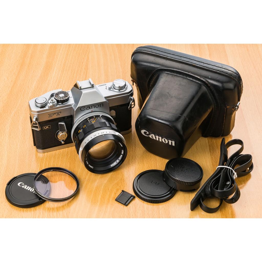 二手新中古:經典CANON FTQL+ CANON FL 50mm F1.4大光圈 文青相機135底片機8.5成新