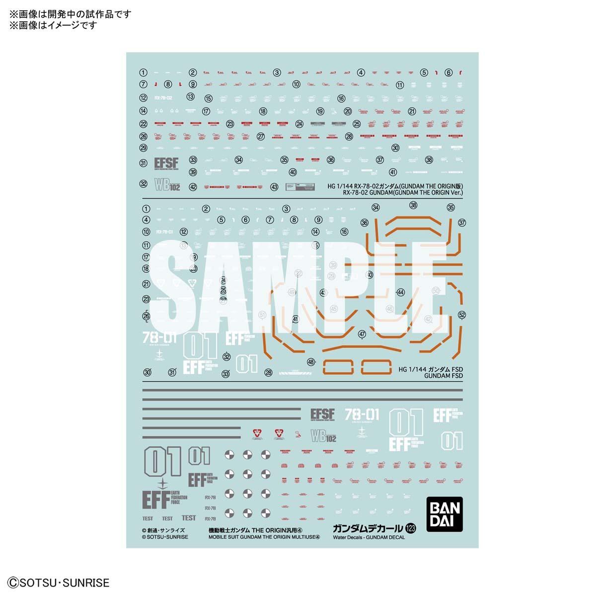 ◆弘德模型◆ 7月預購 水貼 123 HG 1/144 MG 1/100 GTO 鋼彈 The Origin 通用水貼4