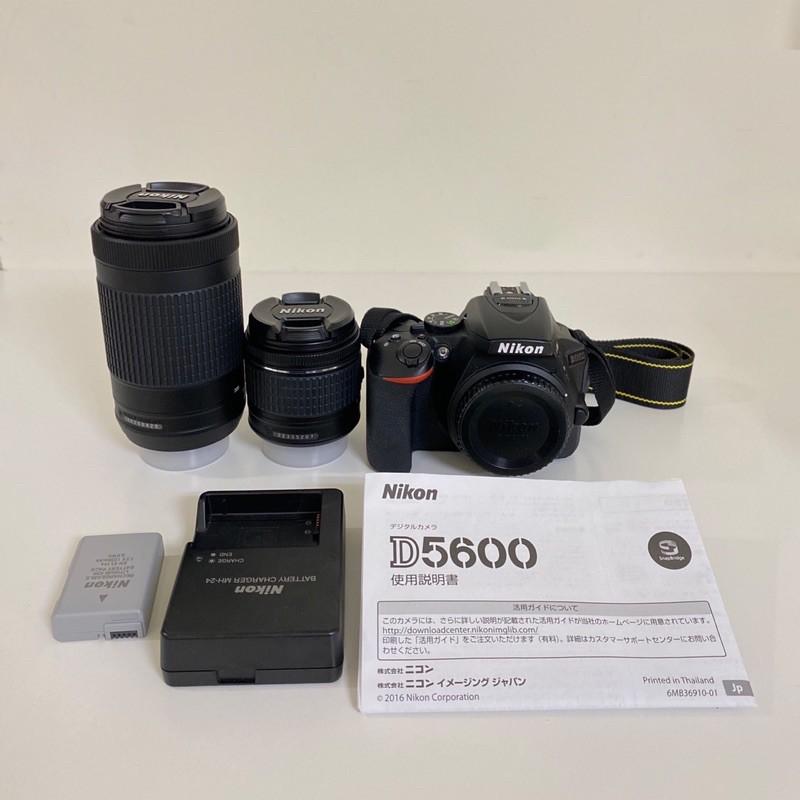 二手 Nikon. D5600單眼相機 +18-55 / 70-300