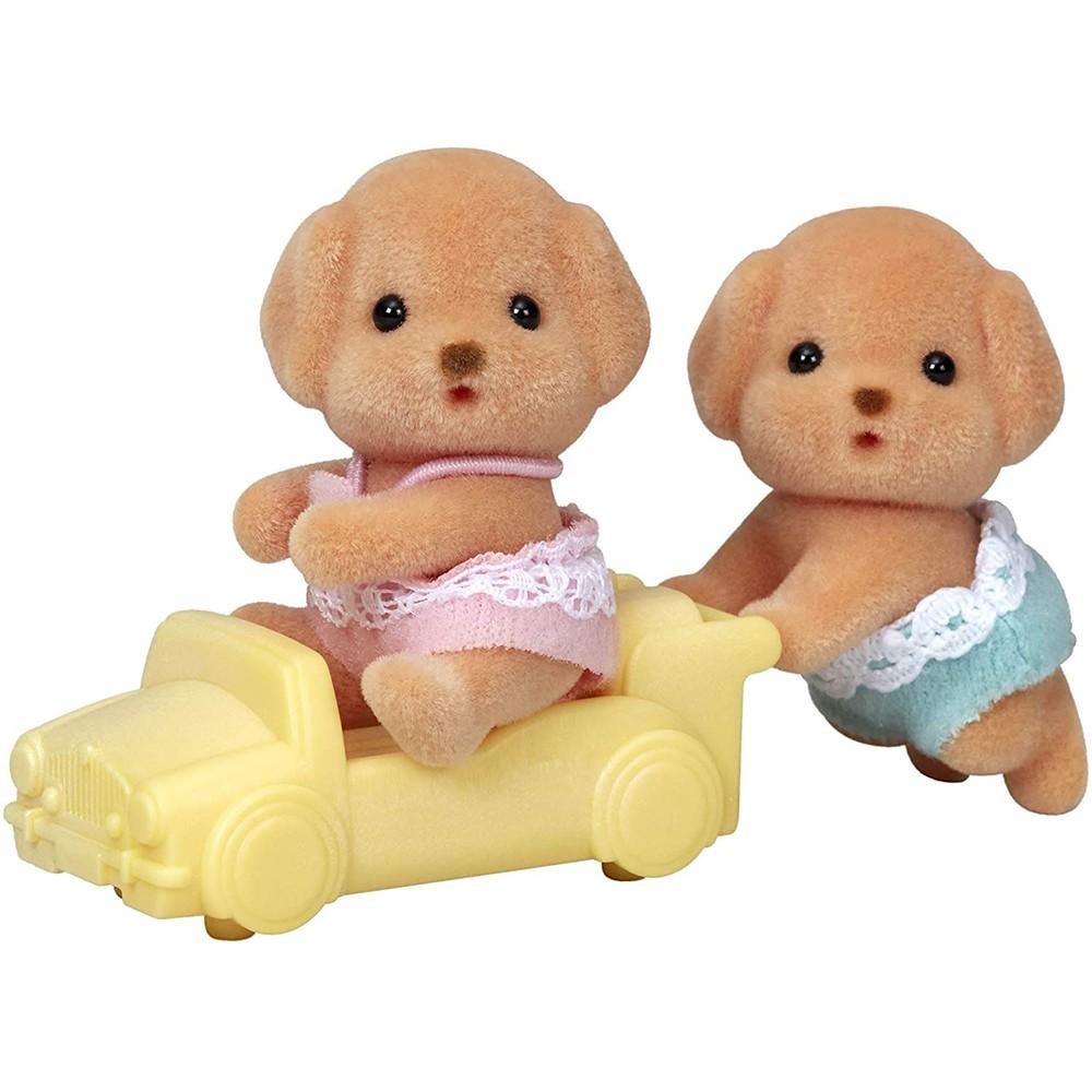 森林家族 玩具貴賓狗雙胞胎