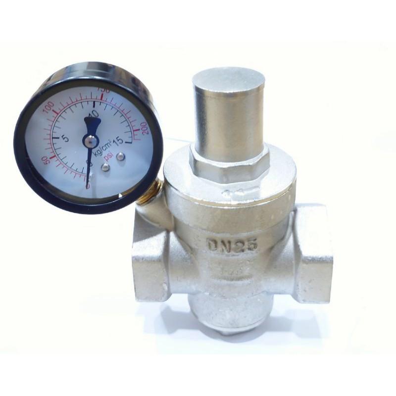 [DIY達人]一吋減壓閥+錶 減壓閥 壓力錶調節 降壓 減壓 熱水器 水管