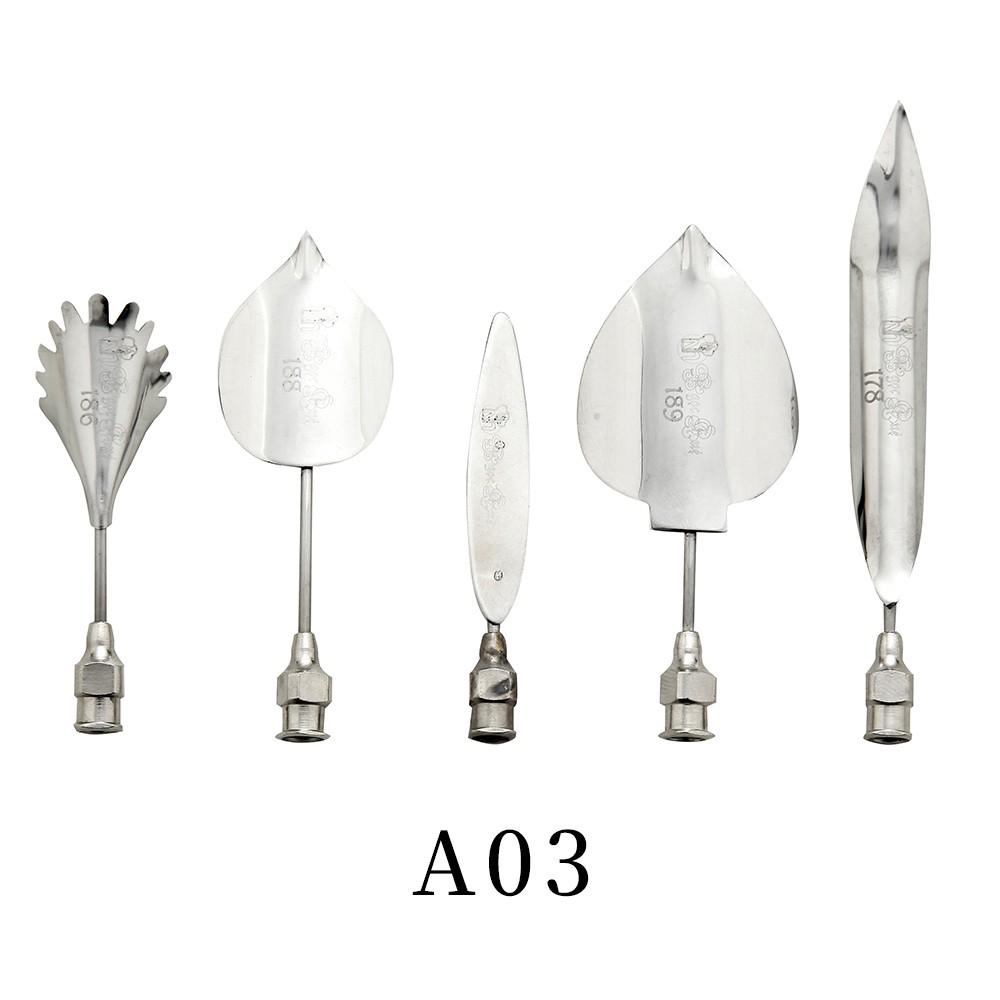 優果《越南進口不鏽鋼果凍花針A03》每組內含5支針