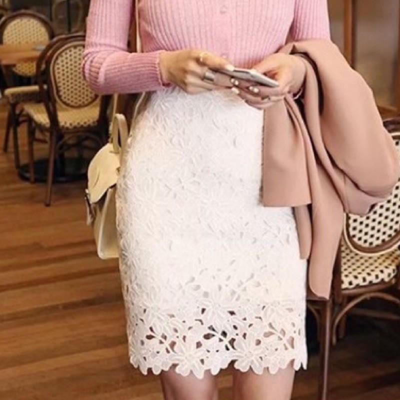 高腰 包臀裙 鉛筆裙 短裙 窄裙 蕾絲裙 -SISTER.3(551)