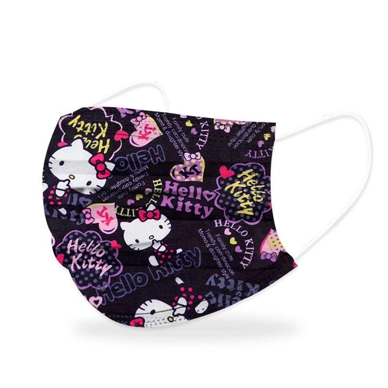 Kitty口罩 暗黑口罩 黑色口罩 類三麗鷗 卡通口罩 非醫療