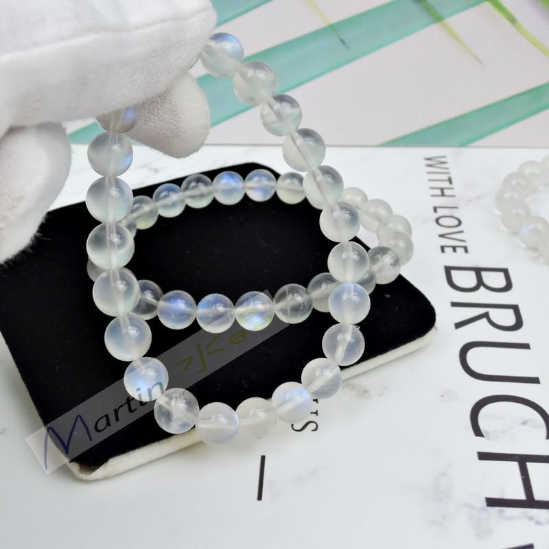 【MARTIN水晶】5A  冰種藍月光 月光石 藍光 斯里蘭卡 老料 奶油體  手鍊 手串 手珠