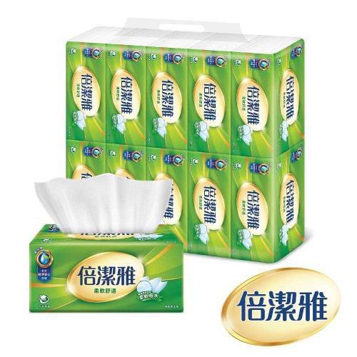【現貨宅免運】倍潔雅 柔軟舒適抽取式衛生紙150抽x14包x4袋 60包