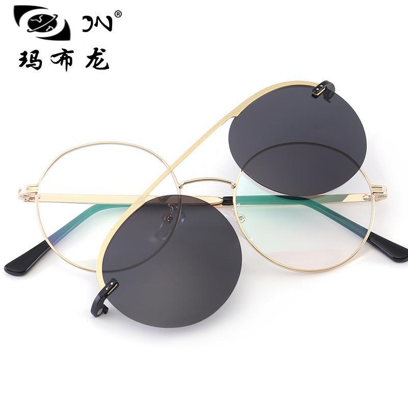 【科沃斯套鏡】廠家新款韓版時尚洋氣復古可配近視的太陽鏡套鏡式平光眼鏡2066