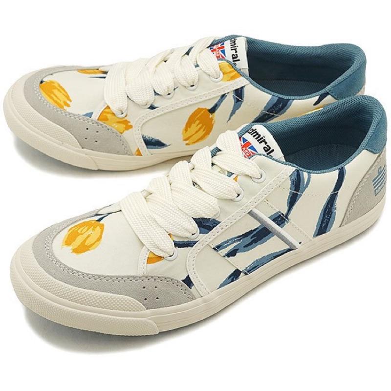 正品 現貨✨Admiral海軍上將運動鞋White/Navy/Flower(SJAD1522)