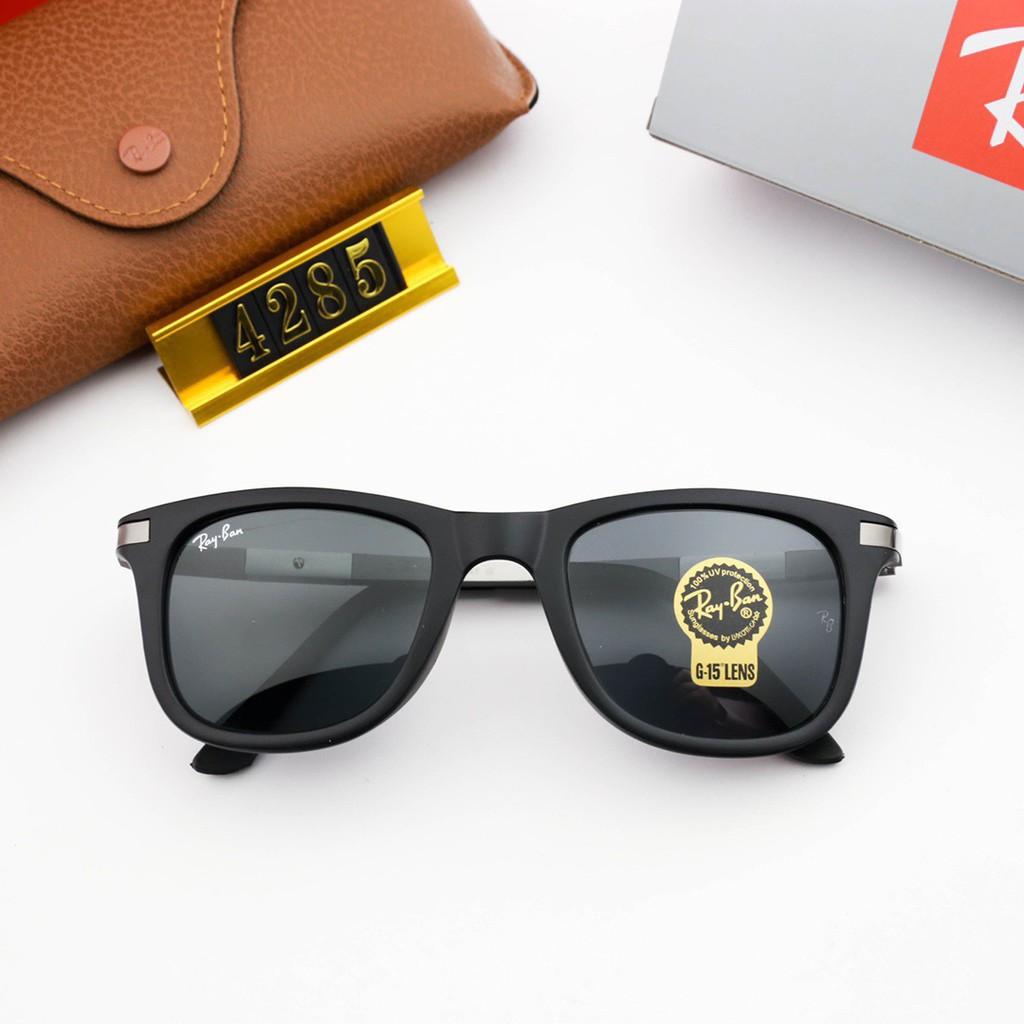品牌太陽鏡RB太陽鏡 RB4303太陽眼鏡 鋼化玻璃鏡片TR鏡框 時尚彩膜蛤蟆鏡 男女同款彈簧腿墨鏡 開車商務旅行必備