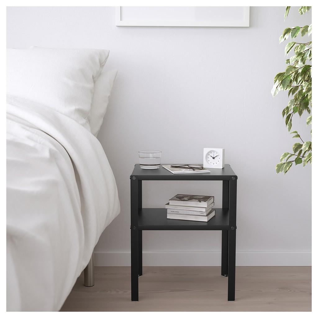 北歐工業LOFT風格經典IKEA宜家KNARREVIK床邊桌床頭櫃收納架層架茶几//黑色/二手九成新含盒裝/特$300