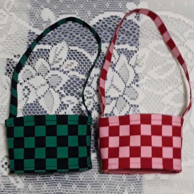 鬼滅之刃,鬼滅刃杯套,環保飲料袋。台灣製,手工,現貨。