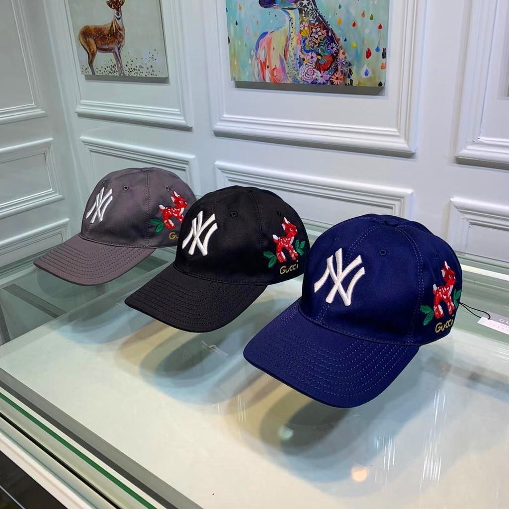 NY&Gucci最新聯名款梅花鹿棒球帽,專櫃熱賣中!!1:1開模訂制,100%媲美專櫃,100%斜紋純棉面料,純棉內裏,