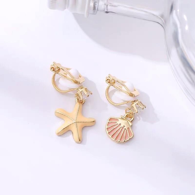 浪漫貝殼海星耳環 海星耳環 貝殼耳環231