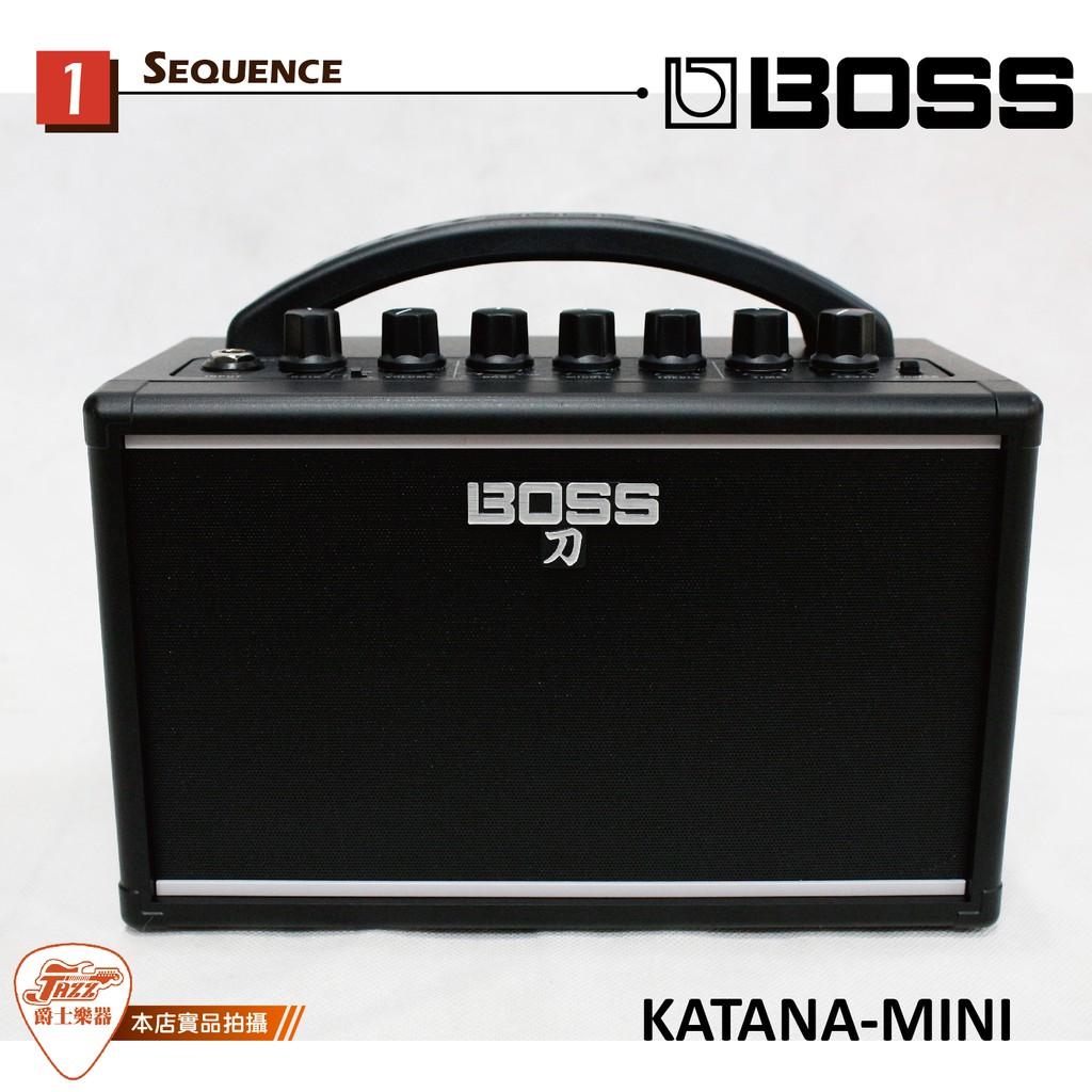 【爵士樂器】原廠公司貨保固免運 BOSS KATANA-MINI 刀 電吉他音箱 KTN-MINI