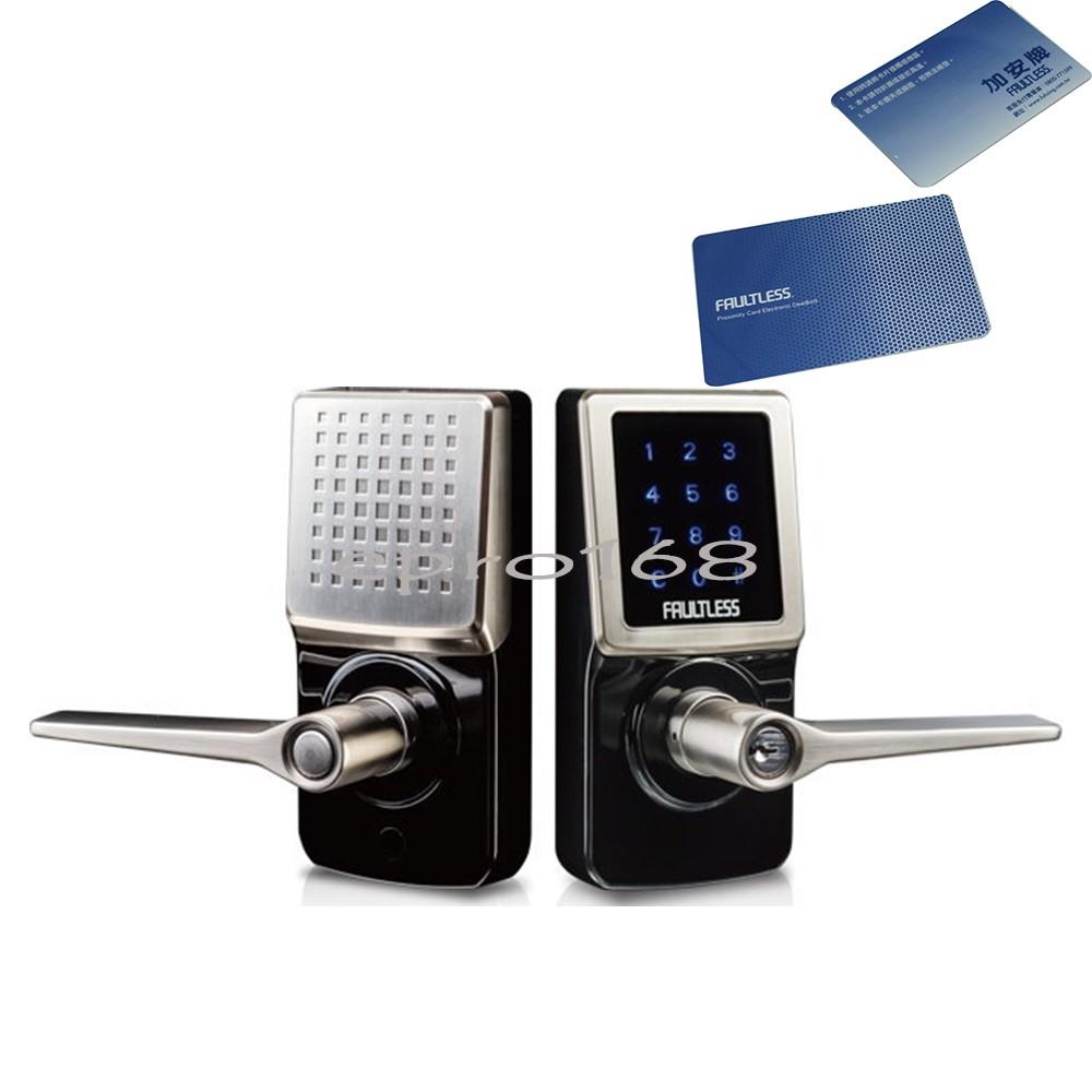 電子鎖G5V2LED0BC◄觸控電子鎖 加安智慧型電子觸控感應鎖 三合一 (按鍵+鑰匙+卡片)電子水平把手鎖 密碼鎖