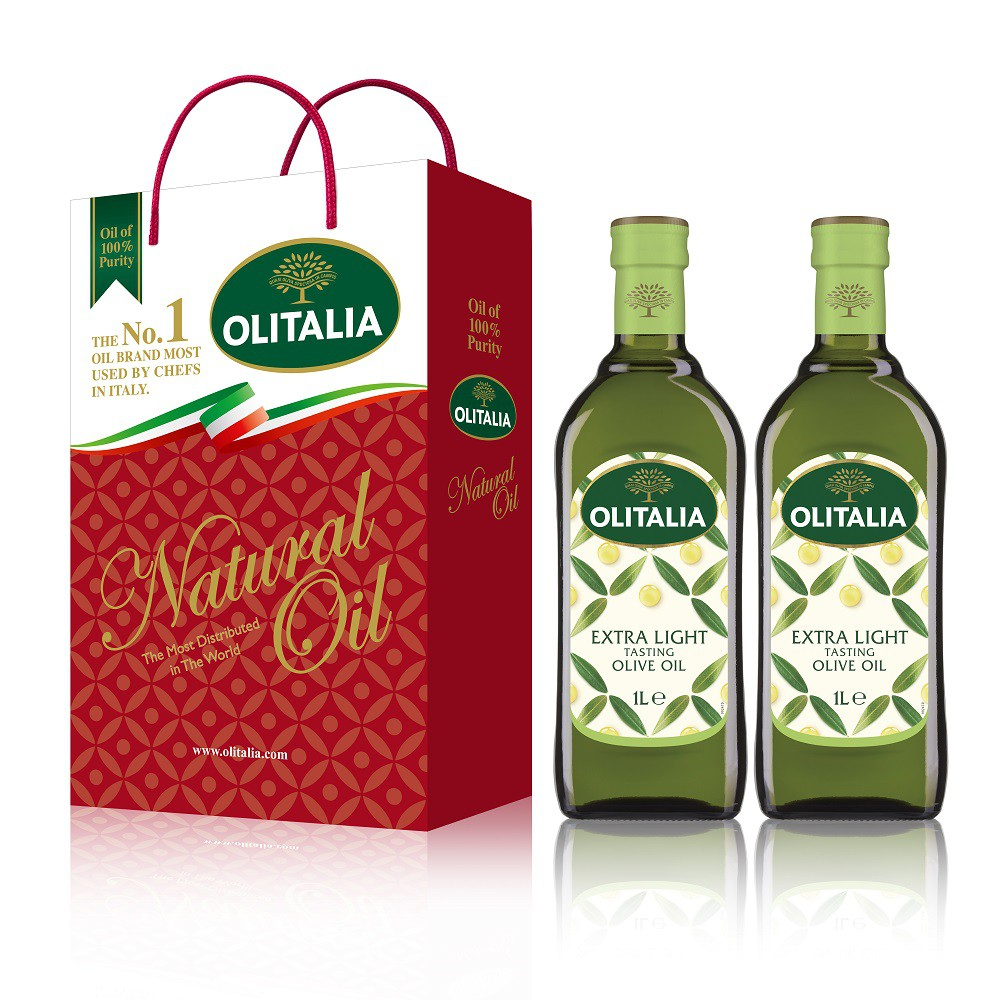 Olitalia 奧利塔精緻橄欖油1公升雙入禮盒
