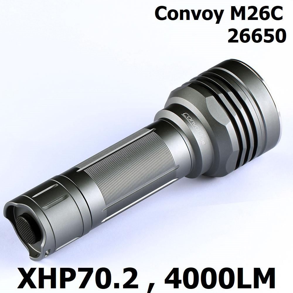 【電筒發燒友】Convoy M26C XHP70.2 4000流明 單鋰26650 溫控保護 強光手電筒