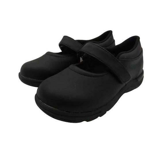 日本月星Moonstar機能童鞋黑皮鞋系列寬楦頂級穩定輕量皮鞋款-黑(中小童段/中大童段)