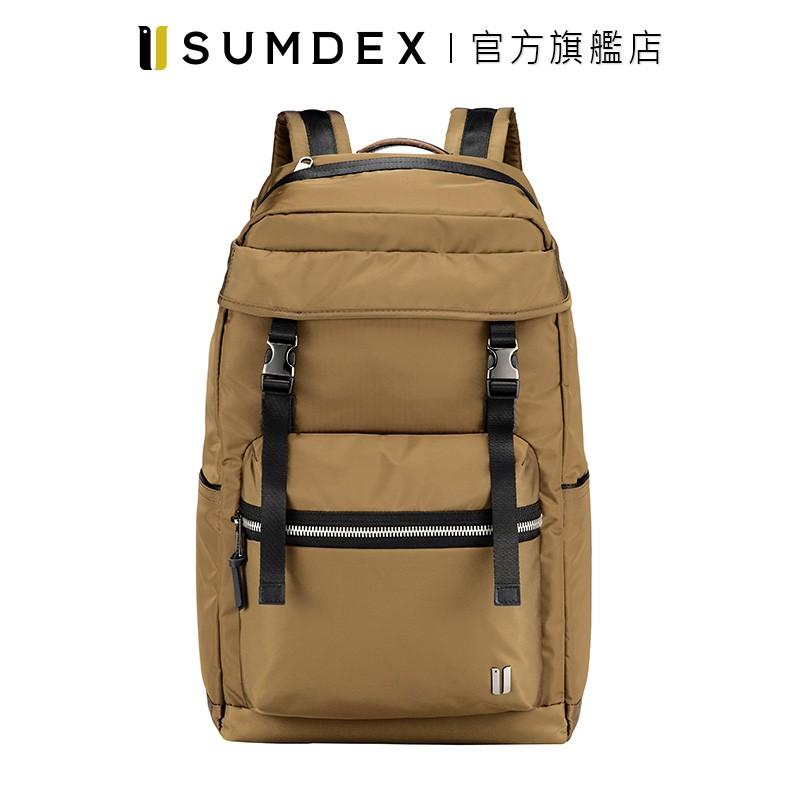 Sumdex 都會旅行休閒後背包 NON-794TK 咖啡色 官方旗艦店