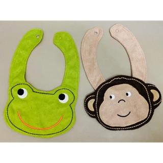 「二手出清」(剩猴子)卡特 Carter's 口水巾 圍兜兜 猴子 動物造型 高雄市
