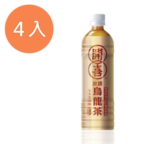 開喜 凍頂烏龍茶-清甜 575ml (4入)/組【康鄰超市】