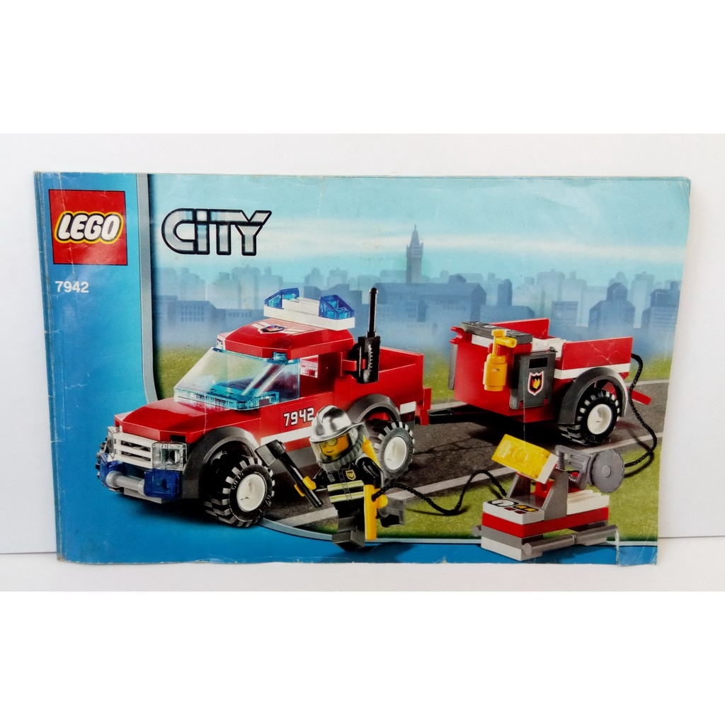 [ 二手玩具 ] 樂高盒組 城市系列 7942 越野消防救援車