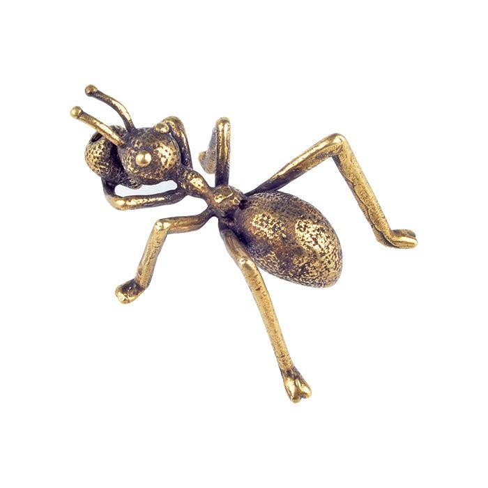 現貨實拍☇實心純黃銅螞蟻香插茶寵茶道線香底座精美小擺件仿古銅器桌面飾品