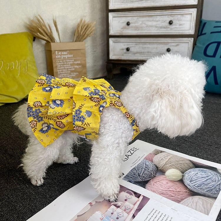 2021年春夏裝新款全棉透氣時尚小裙子泰迪衣服比熊