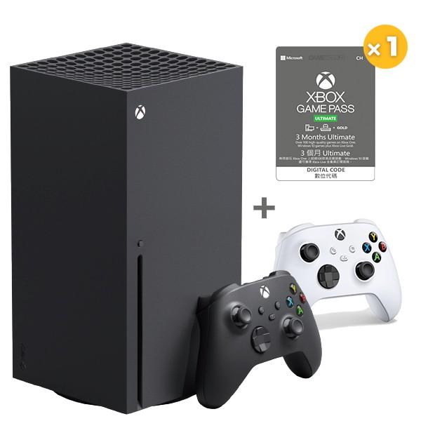 Xbox Series X + Game pass Ultimate 3個月x1 + XBOX白手把 / 台灣公司貨