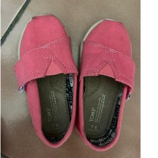 TOMS素色粉色女童鞋 高雄市