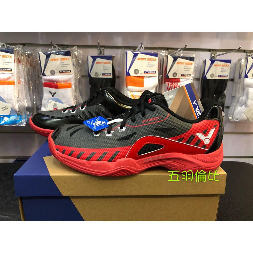 【五羽倫比】VICTOR 羽球鞋 勝利羽球鞋 A610 PLUS CD/黑紅 A610 勝利 VICTOR 全面 羽球鞋