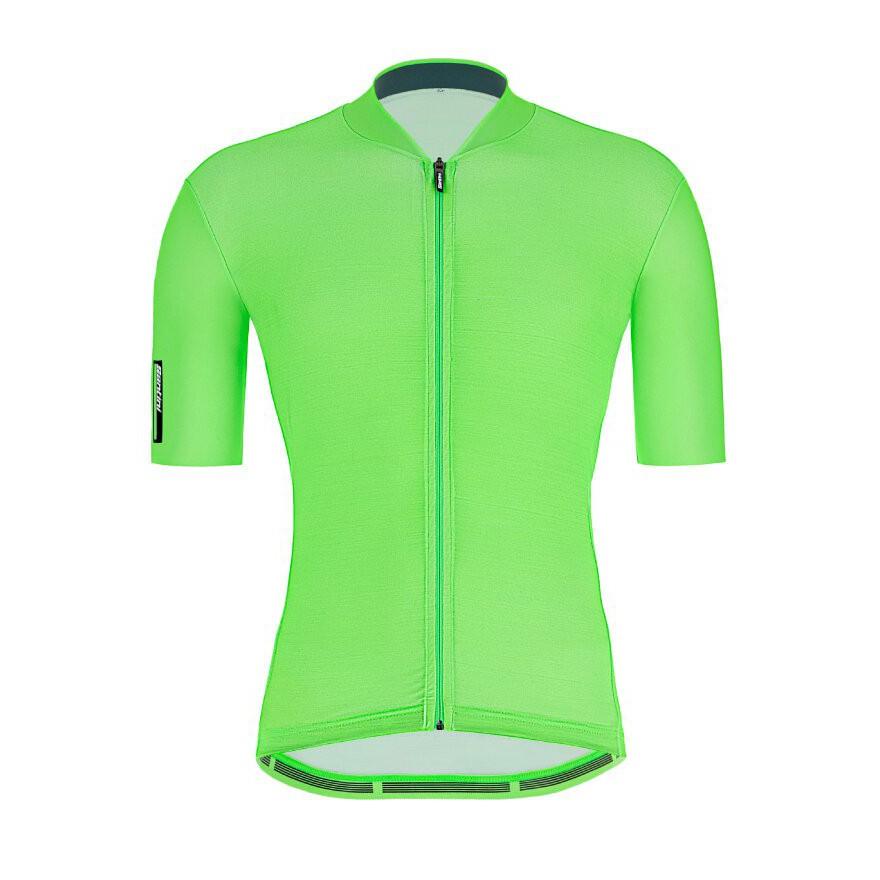 2021 Santini 【色彩】短袖車衣- 螢光綠