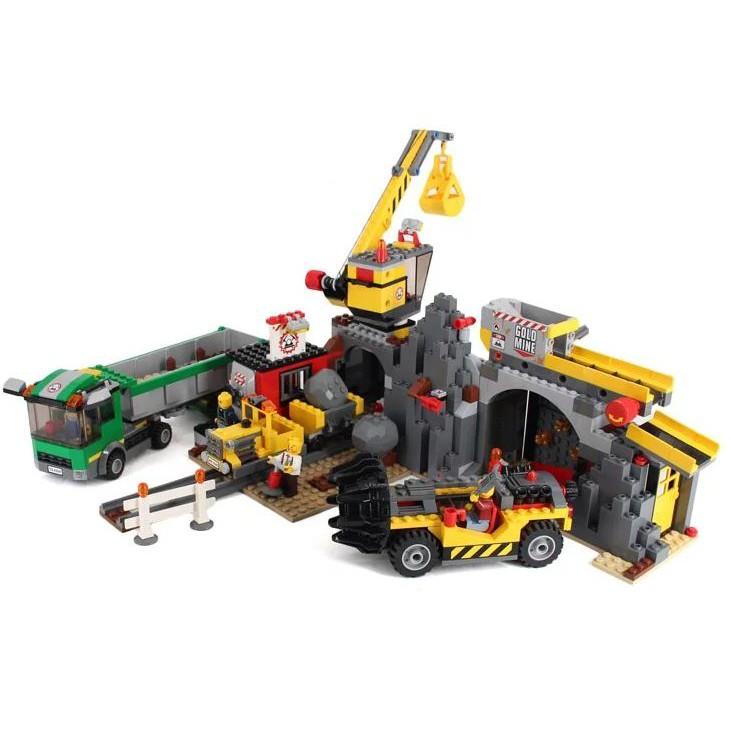 二手 LEGO 4204 城市系列 採煤礦場 少4散磚附說明書 769900002860 再生工場YR2103 04